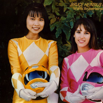 Photo of Thuy Trang and Amy Jo Johnson by Bruce Heinsius