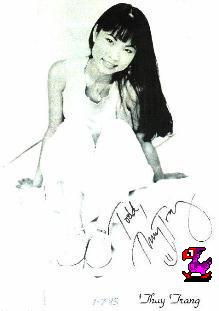 autographed Thuy Trang photo